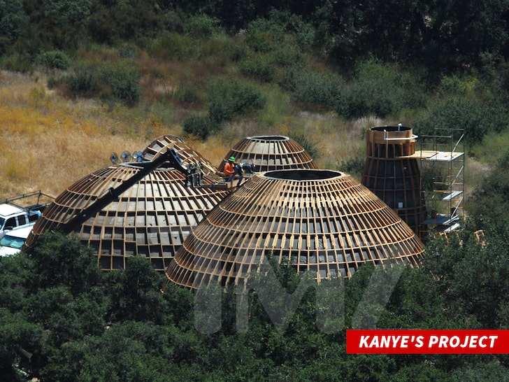 Kanye West's Dome-Like Prototypes Appear in Calabasas Intended to Break Class Barriers