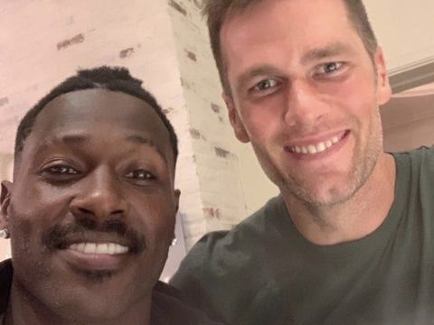Antonio Brown Tom Brady Selfie