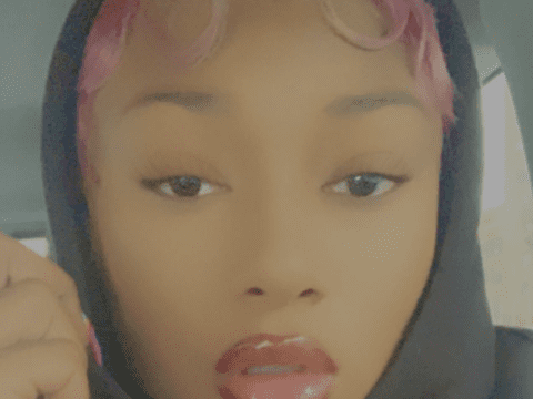 Megan Thee Stallion Selfie Pink Hair Moment