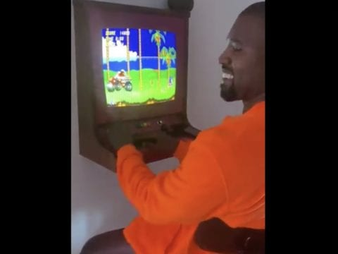 Kanye West Sonic Playing Game 2