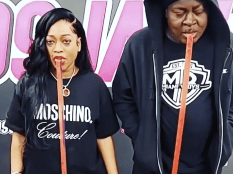 Trina Trick Daddy Fruit Rollup Challenge