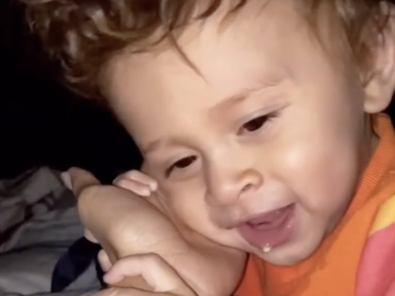 Chris Brown's Son Aeko Drools All Over Ammika's Hand In Bedroom Clip